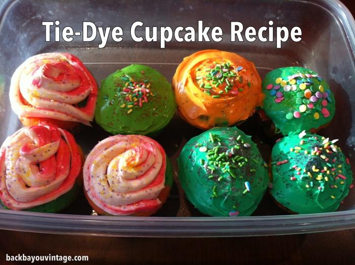 Tie-Dye Cupcake Recipe