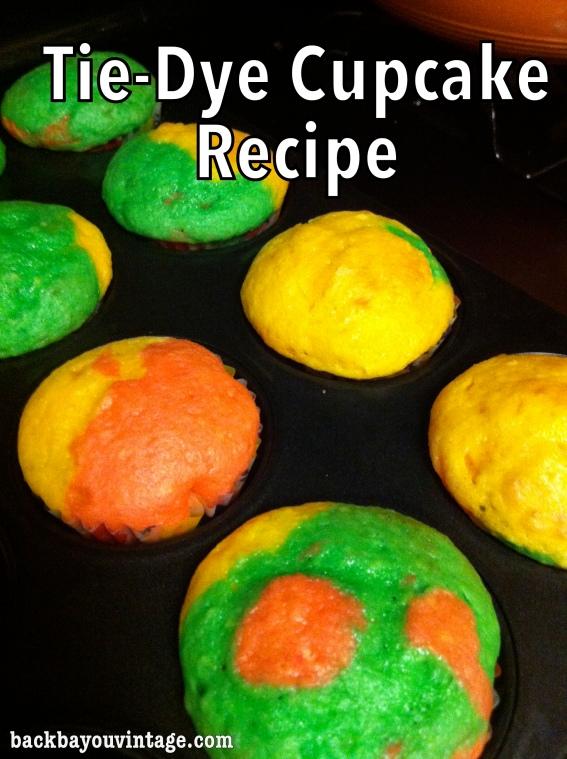 Tie-Dye Cupcake Tutorial