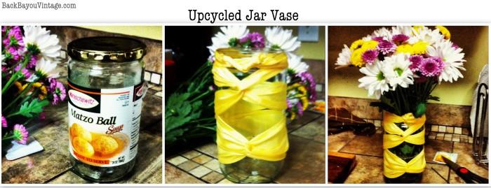 Upcycled Jar Vase