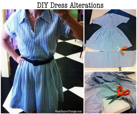 DIY Vintage Dress Alterations