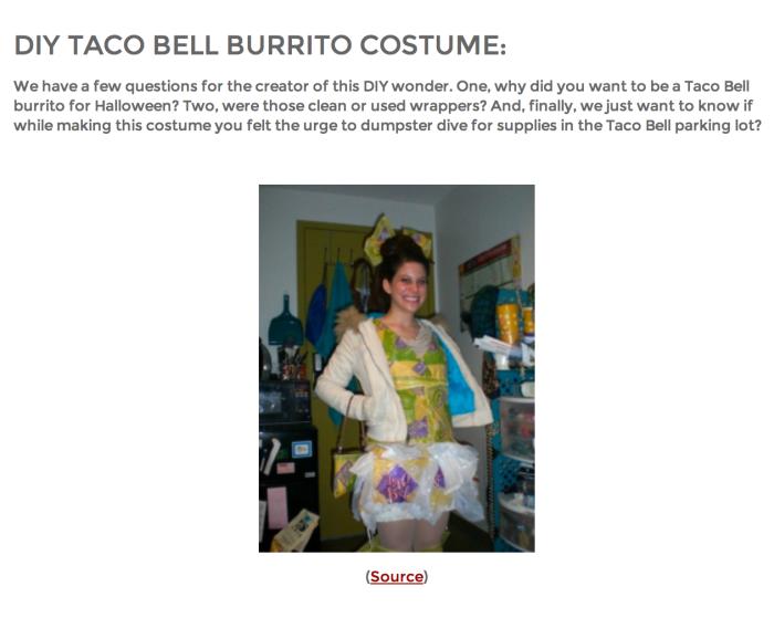 DIY Burrito Costume Gone Viral
